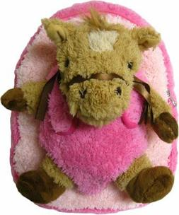 Kreative Kids Adorable Pink Horse Plush Backpack with Remova