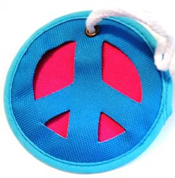 awesome 4 fabric peace symbol backpack bag
