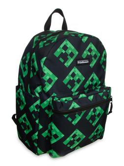"""Minecraft Backpack 16"""" Creeper All Over Print Laptop Sleeve"""