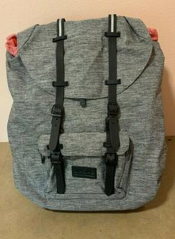 Casual Large Gray Vintage Canvas Travel Backpacks Laptop Col
