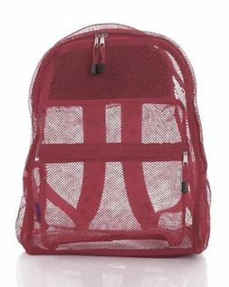 Clear Mesh Backpack Carrying Sports Pack Kids Large Travel S