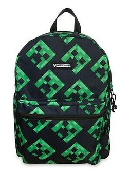 "Minecraft Creeper All Over Print 16"" Backpack School Bag"