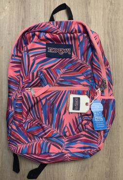 JanSport Cross Town Backpack Dotted Palm New With Tags