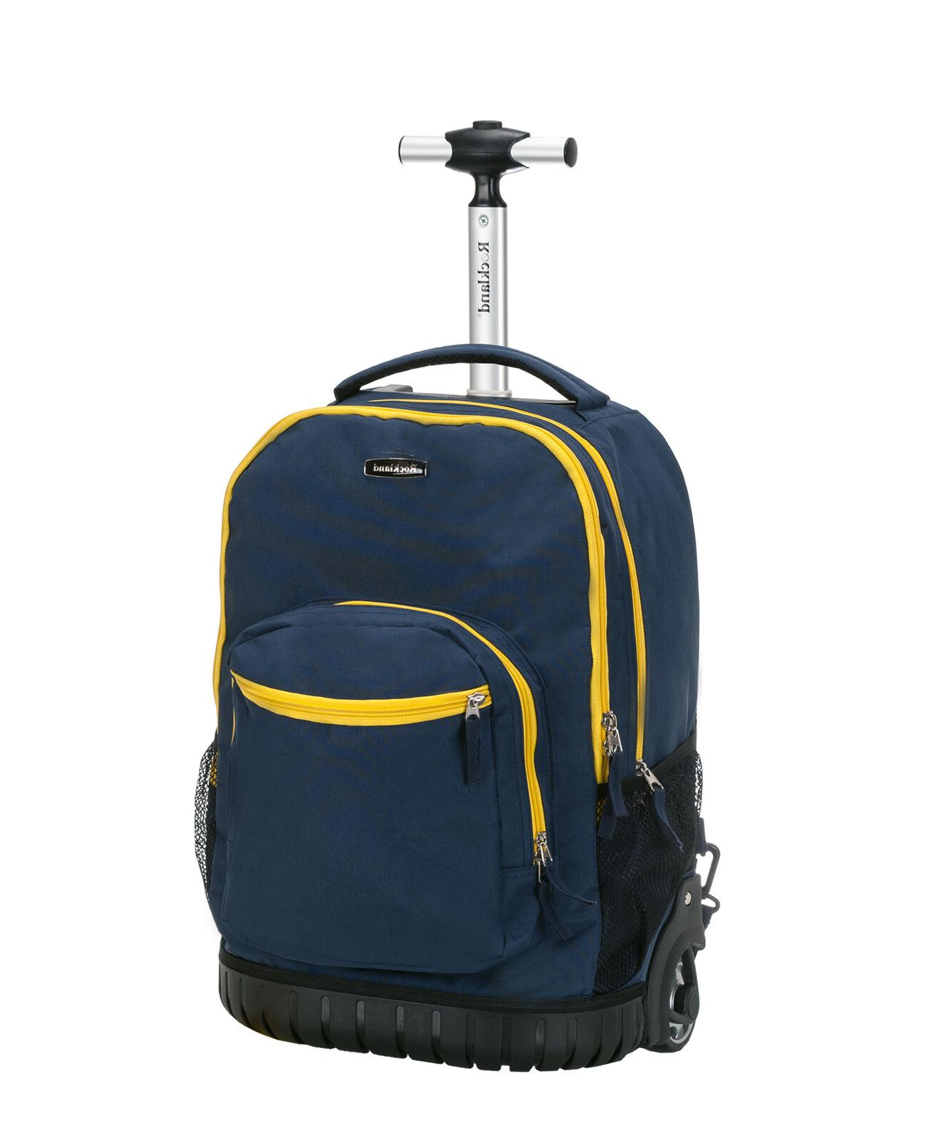 Rockland Unisex 19 Rolling Backpack Size 13 x 10 x 19