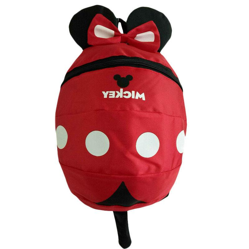 Girls 3D Mouse Kids Backpack Anti-Lost Bag