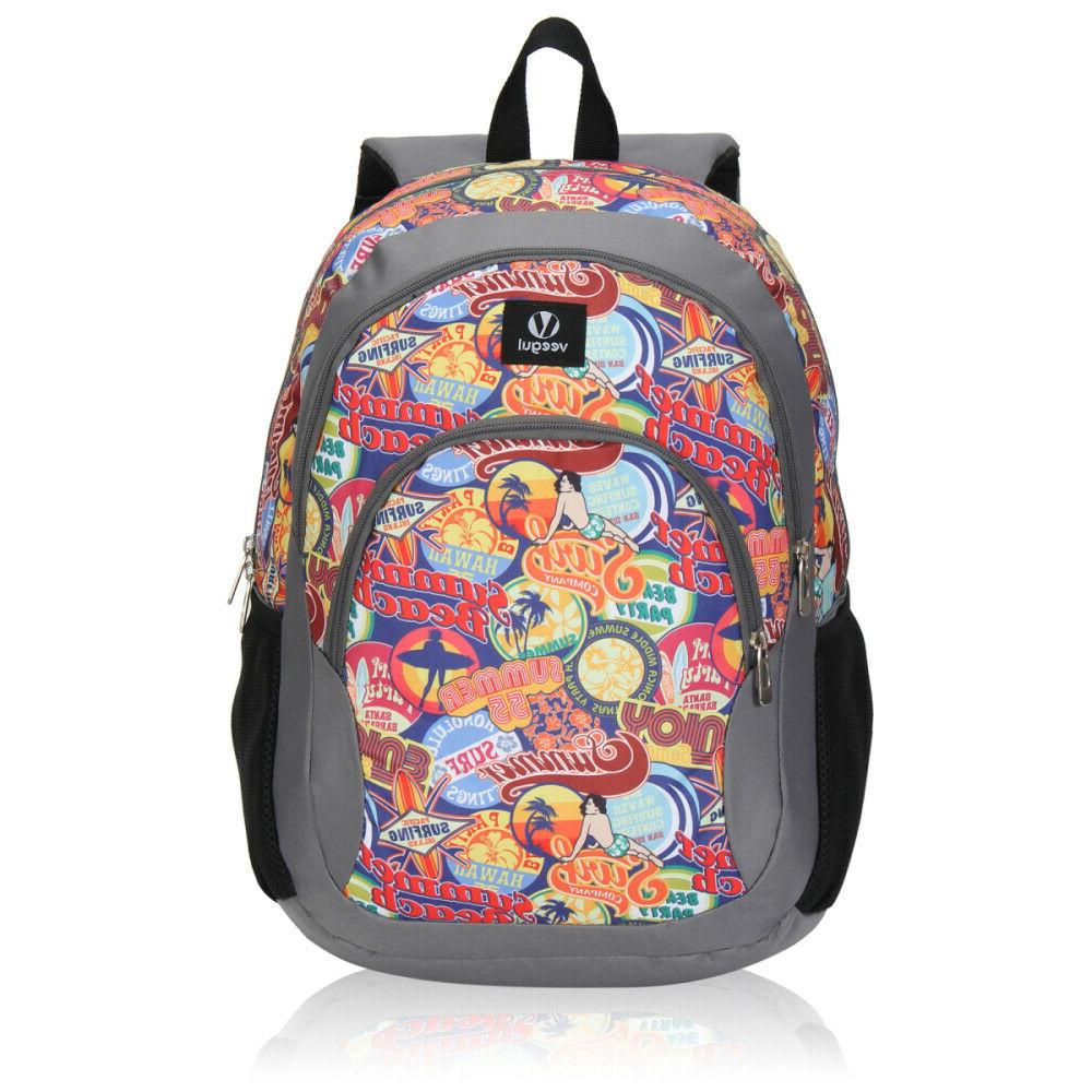 kids school backpack boys and girls book