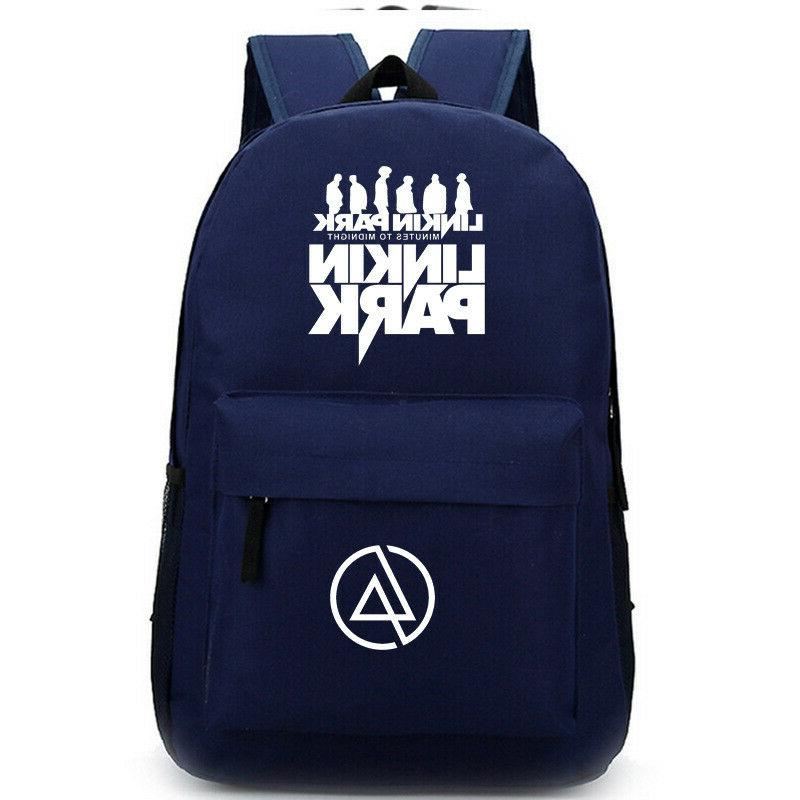 Linkin Park Fashion Backpack for Teenagers Gifts Bookbags