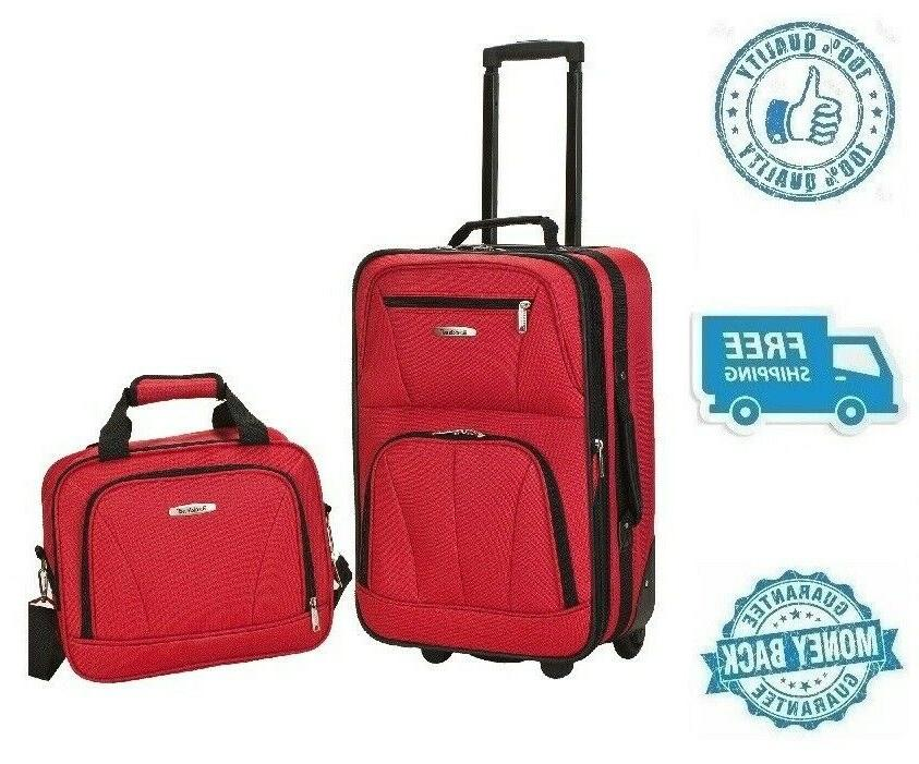 New Red Women's Carrier Luggage Set Travel Bag Girl's Polyes