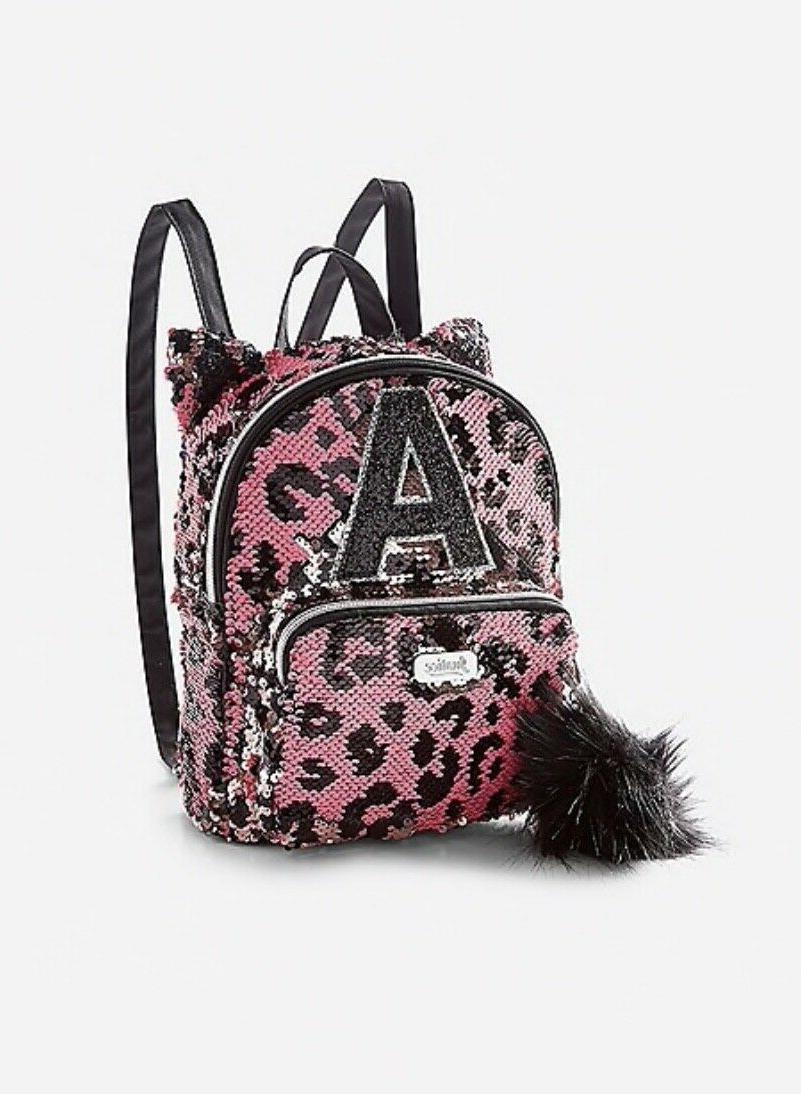 NWT JUSTICE Girls Initial Flip Sequin Backpack