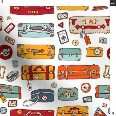 Travel Bag Suitcase Hipster Backpacks Printed by Spoonflower