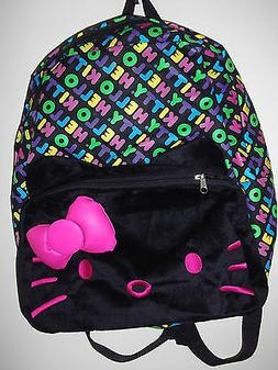 """New HELLO KITTY  Kid's Backpack  15 x 12 x  5""""  Pink Bow Plu"""