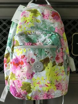 NWT Kipling Go Seoul Backpack - Luscious Florals -Watercolor