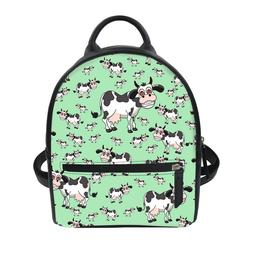 PU Leather Bag Multi Cat /Cow Travel Backpack kids Day Pack