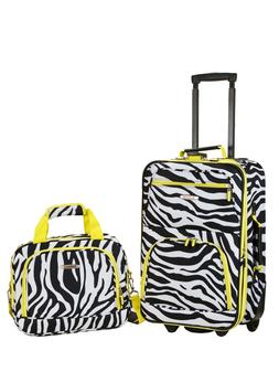 Rockland Rio 2-Piece Carry-On Luggage Set travel sleep over