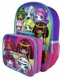 Monster High School Backpack With Insulated Lunchbox Bag Com