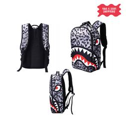 Shark Mouth Backpack Laptop Travel book bag for kids and adu