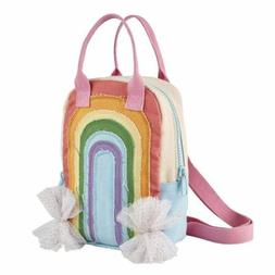 """Mud Pie The Kids Shoppe Rainbow Toddler 10"""" Backpack"""