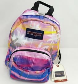 JanSport Unisex Half Pint Mini Backpack Pink Palms New with