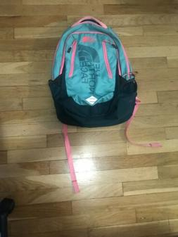 The North Face Wasatch Backpack - Teal and Pink