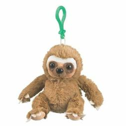 """Wildlife Artists Sloth Plush Backpack Clip Toy Keychain 5.5"""""""
