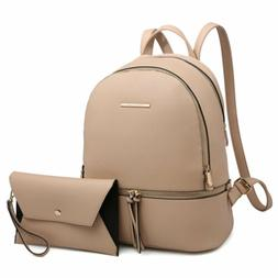Dasein Women Fashion Backpack Schoolbag Casual Bag Matching