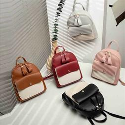 Women Leather Backpack Children Mini Cute Panelled Small Bag